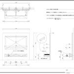 背面パネルと一体式にしたフロート式TVボード